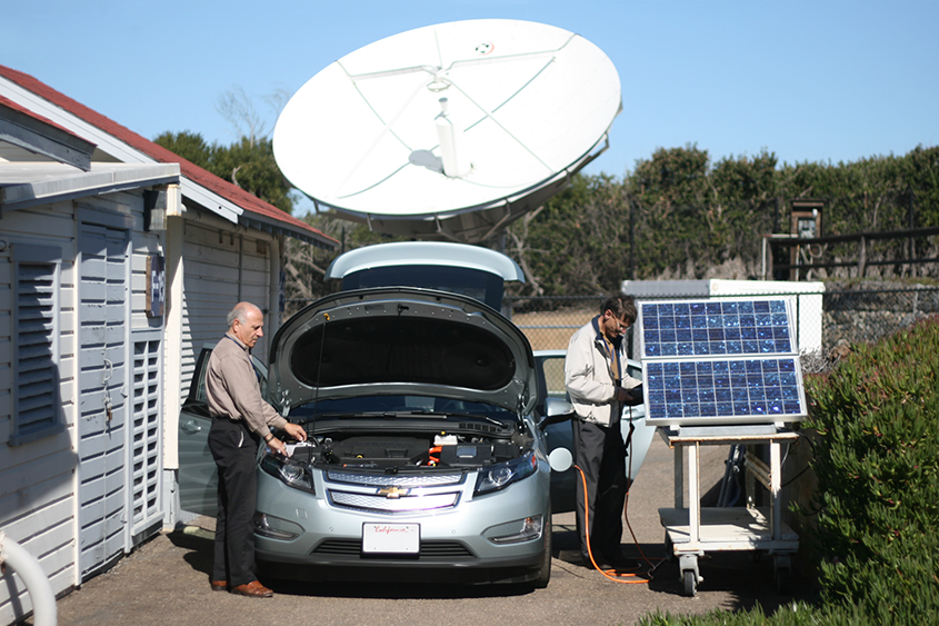 Chevy Volt and Solar testing rig.