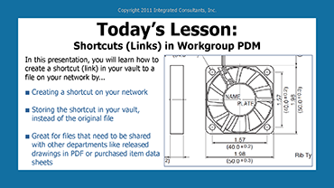 Shortcuts (Links) in Workgroup PDM